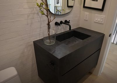 Custom Black Floating Vanity in Peoria Arizona